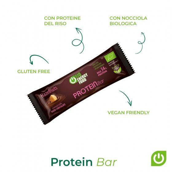 Organic hazelnut/ chocolate protein bar (40g)