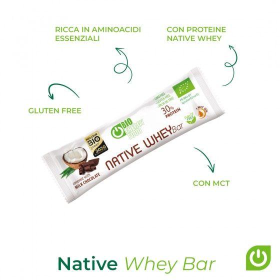 Barre protéinée Native Whey coco & chocolat biologique (30g)